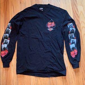 Harley Davidson Men's M Black Long Sleeve Shirt